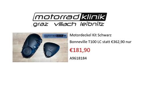 Motordeckel Kit Schwarz Bonneville T100 LC Black statt €362,90,- nur €181,90,-