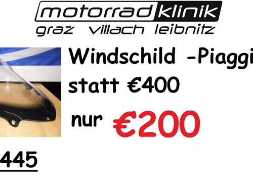 Windschild Piaggio X10 statt €400 nur €200