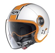 Jethelm N21 Visor Duetto 9 weiss-orange XL