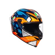 Integralhelm Corsa R Miller 2018 blau-orange-weiss XL
