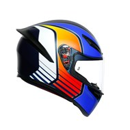 Integralhelm K-1 Power blau matt-orange L
