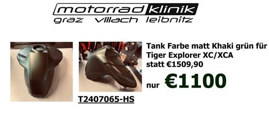 Triumph Tank Farbe matt Khaki grün für Tiger Explorer XC/XCA statt €1509,90 nur €1100