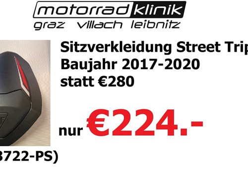 Sitzverkleidung Street Triple RS Baujahr 2017-2020 statt €280 nur €224
