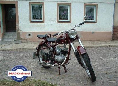 Umgebautes Motorrad MZ RT 125/2 von 2-Rad-Knoblauch