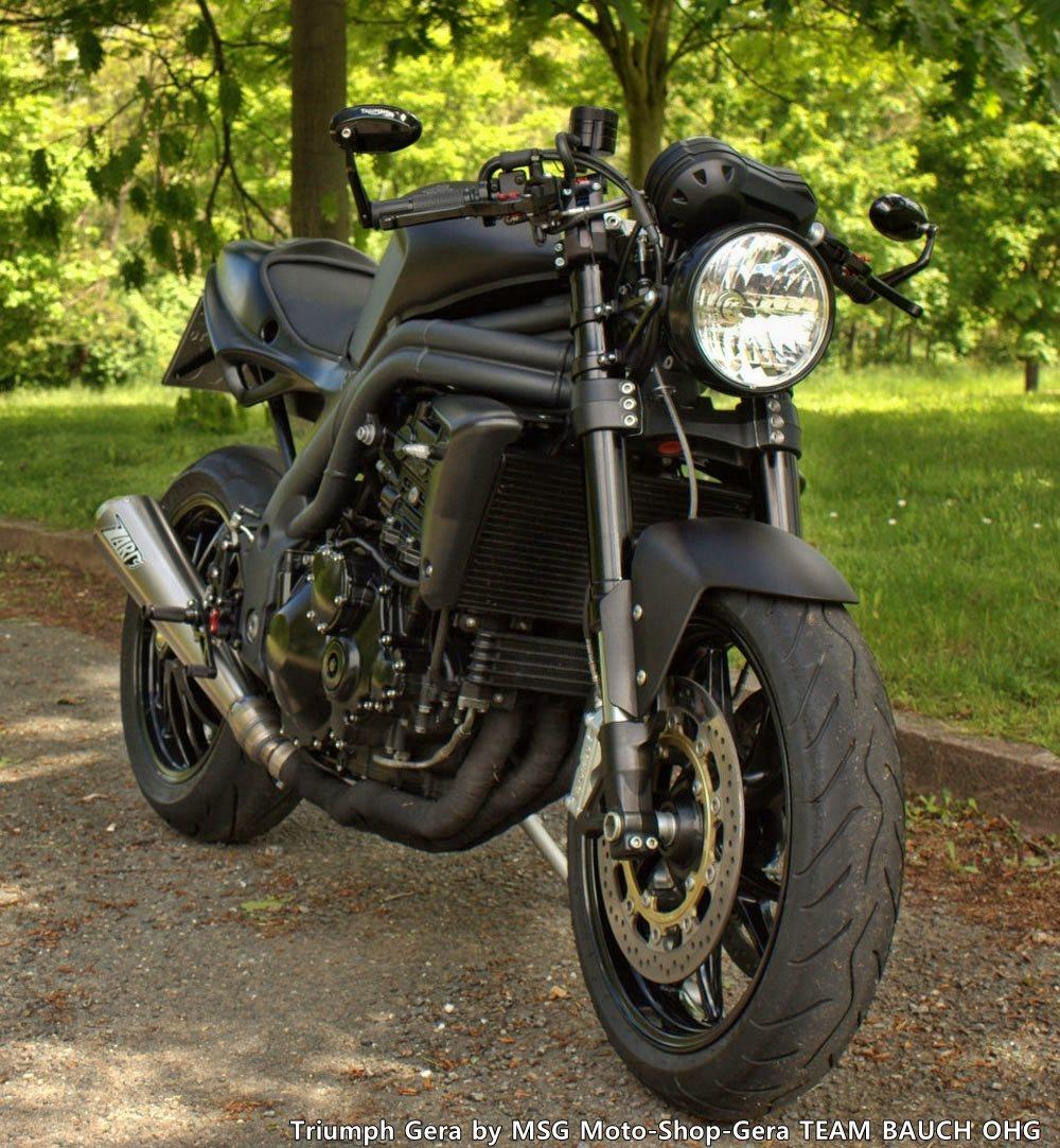 Umgebautes Motorrad Triumph Speed Triple 1050 von MSG Moto