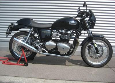 Triumph Thruxton Ein wenig umgebaut