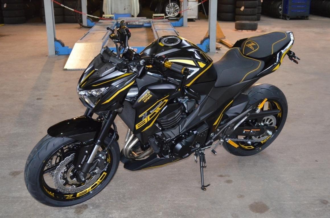Motorrad Innensechskant Steckachsen Nuss Kawasaki Z 800 e gold