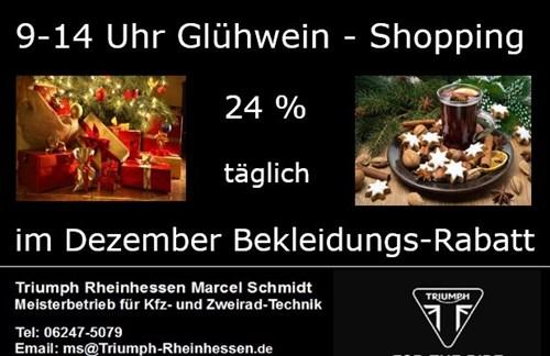 Glühwein-Shopping bei Triumph Rheinhessen