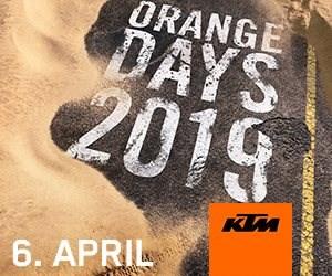 KTM Orange Day 2019     Am 06. April findet wieder der KTM Orange Day von 09.00 - 16.00 Uhrstatt. Die KTM Street Modelle 2019 sind schon eingetroffen und können ...