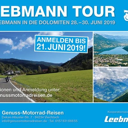 Motorrad Leebmann Tour 2019  Weitere Informationenhier. >hier zum Tour-Flyer (PDF-Download)