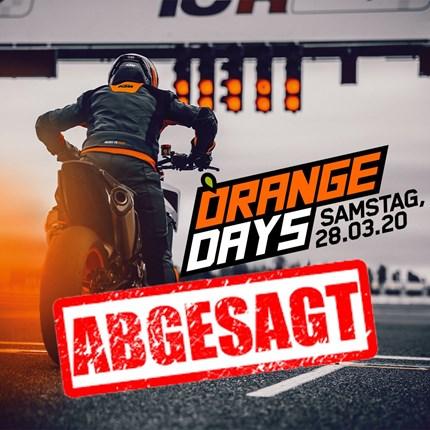 KTM ORANGE DAYS Aufgrund der aktuellen Situation müssen wir den KTM Orange Day am 28.03.2020 absagen.