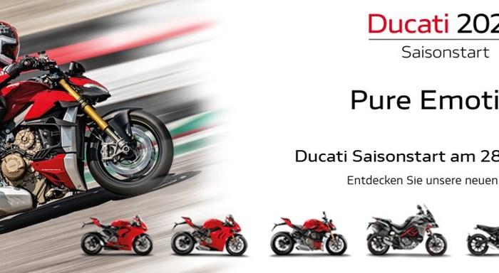 VERSCHOBEN // Ducati 2020 Saisonstart. Pure Emotion.