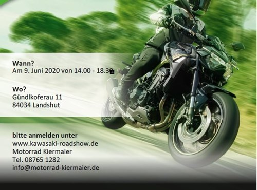 Kawasaki Road Show am 9. Juni