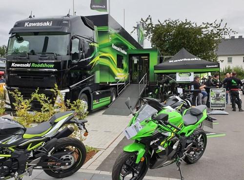 Kawasaki Roadshow mit Kawasaki Südhessen bei Louis Darmstadt