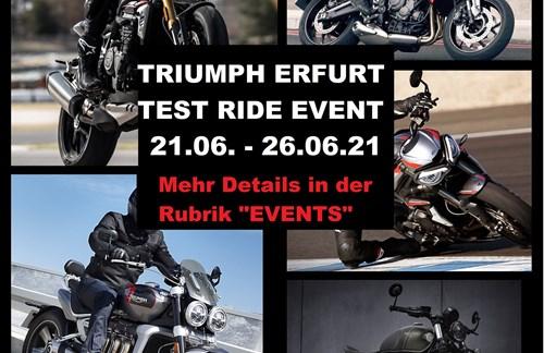 Test Ride Event 2021 by Triumph Erfurt